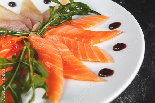 Poster Fish Slices of salmon