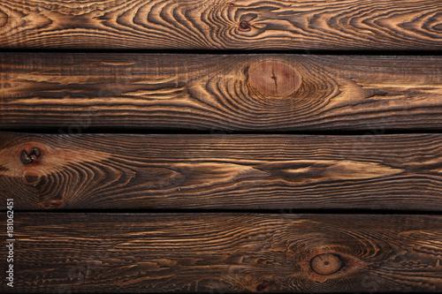 Papiers peints Bois Texture of boards of dark old brown wood