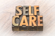 Self-care Word Abstract In Woo...
