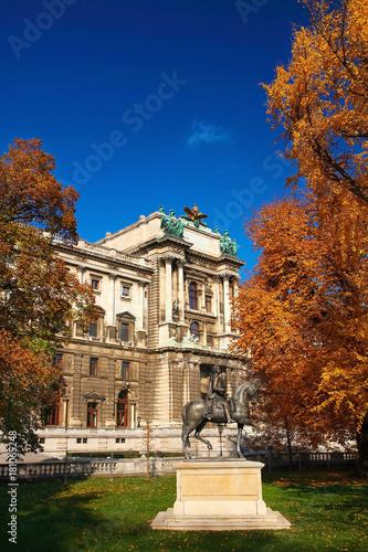 Plakat pałac i rzeźba w Wiedniu
