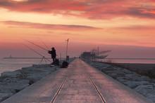 Fishermen At Dawn Along The Pi...