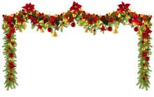 Christmas Garland Background W...