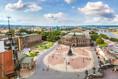 In de dag Centraal Europa Semper Opera House in Dresden