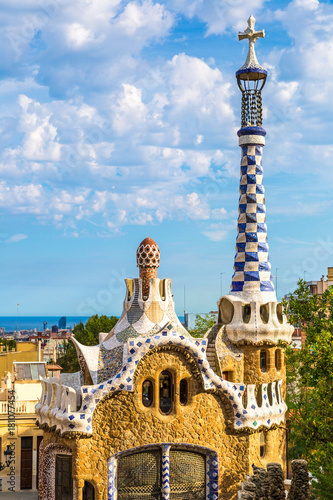 Photo  Park Guell in Barcelona, Spain