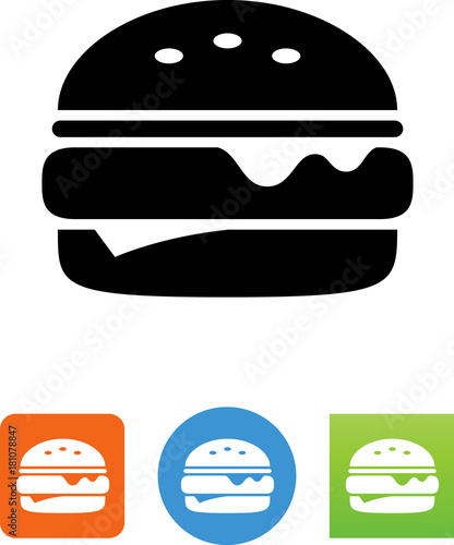 Fototapeta Vector Cheeseburger Icon obraz