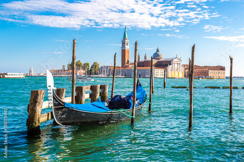 Poster Venise Gondolas in Venice, Italy