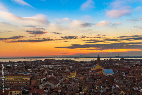 Canvas Prints Athens Aerial view of Venice
