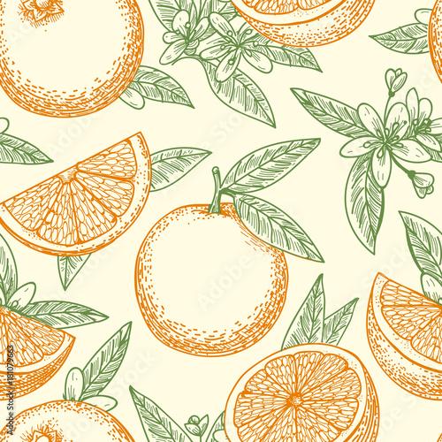 pomaranczowy-owocowy-reka-rysujacy-wzor