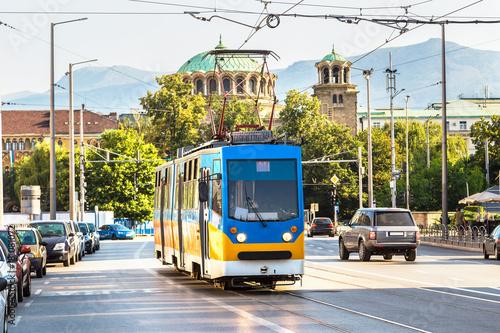 Old tram in Sofia, Bulgaria