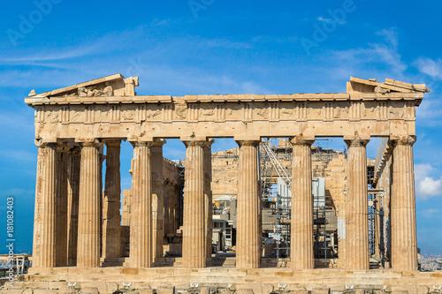 Plakat Partenon świątynia na akropolu w Ateny