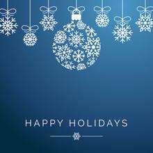 Blue Snowflake Ornament Happy ...