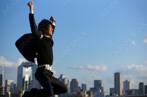 Fotografie, Obraz  大成功して喜ぶ男性