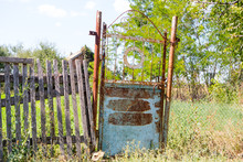 Old Rickety Gates. Old Rusty G...