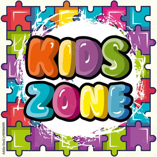 Stampa su Tela kids zone poster icon