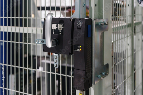 Fotografie, Obraz  Door Interlock Switches for the protection of safety doors before entry machine
