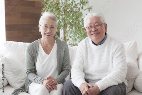Fotografie, Obraz  An old couple's portrait
