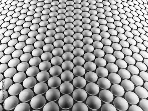 aluminum-discs-construction-wavy-background-3d-illustration
