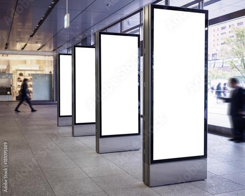 Fotomural Blank Light Box Media set Vertical sign stand display Public building