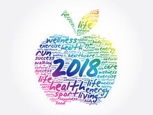 2018 Apple Word Cloud Collage,...