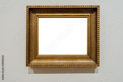 Gilded Vintage Ornate Picture Frame Art Gallery Museum White ...