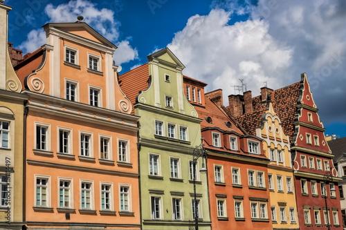 Photo Stands Wroclaw, Sanierte Altbauten
