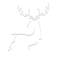 reindeer in paper art origami on isolated white vector