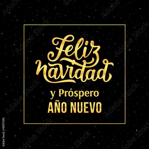 Feliz Navidad e Prospero Ano Nuevo 2018 spanish text Happy New Year ...