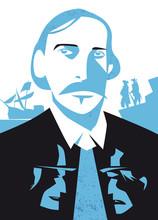 Robert Louis Stevenson Illustration