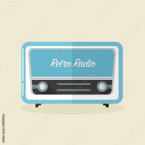 Fototapeta Retro radio vector illustration