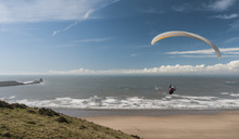 Hang Gliding, Rossili, Gower, Wales, UK