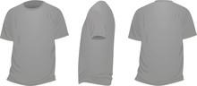 Grey T Shirt. Vector Illustrat...