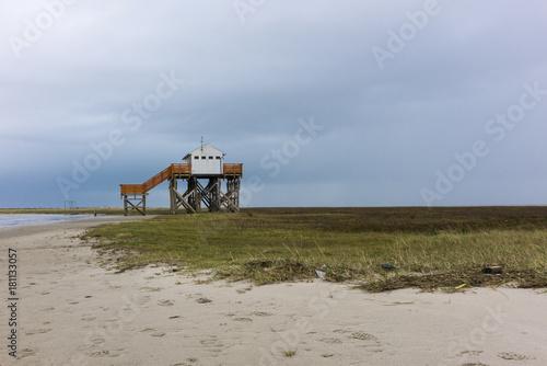Spoed Foto op Canvas Noordzee Nordsee im Herbst bei Sankt Peter Ording