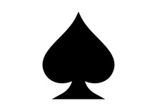 Black Spade Ace Playing Cards ...
