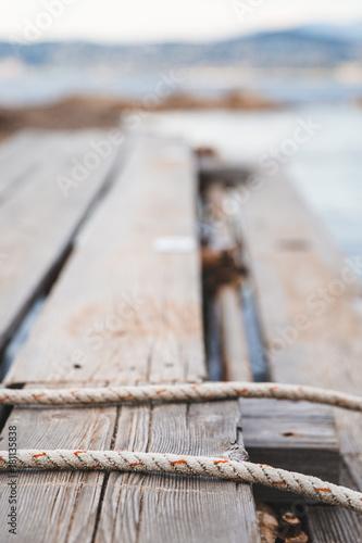 Foto auf AluDibond Port Petit port de pêche