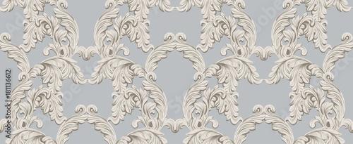Fotografie, Obraz  Baroque pattern for invitation, wedding, greeting cards