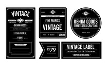 Denim Goods Vintage Labels & Hang Tag