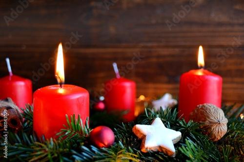 Photographie Adventskranz - zweiter Advent
