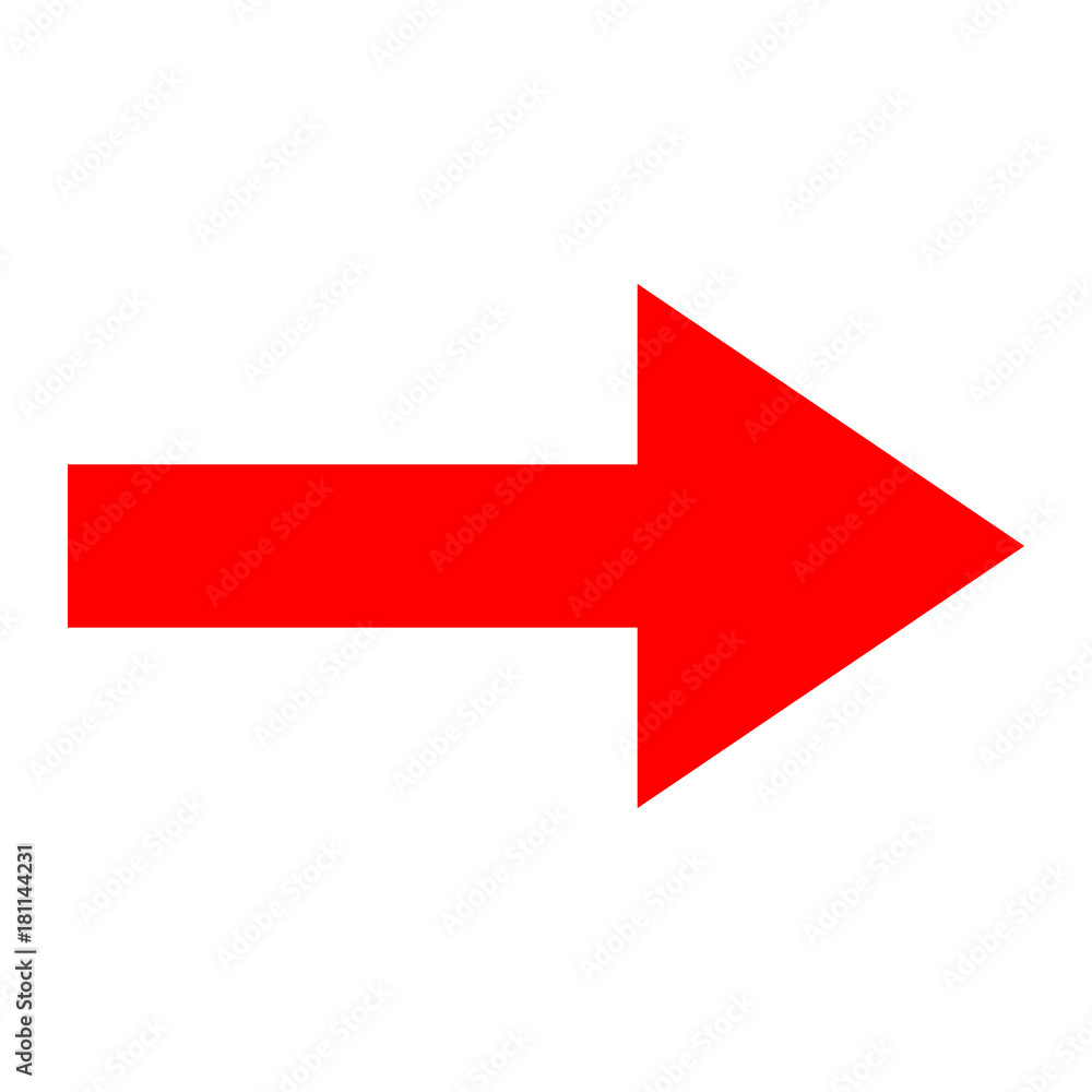 Fototapety, obrazy: Icon red arrow direction on a white background