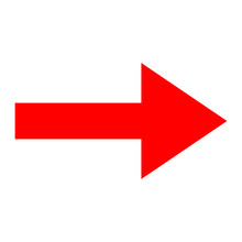 Icon Red Arrow Direction On A ...