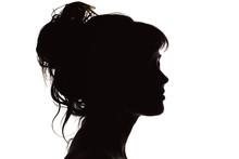 Silhouette Of Beautiful Profil...