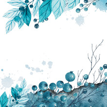 Blue Christmas Watercolor Back...