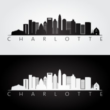 Charlotte Usa Skyline And Land...
