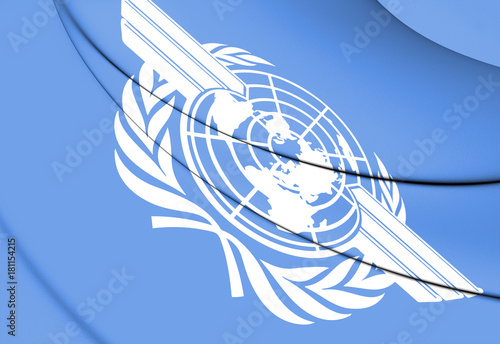 Photo  3D Flag of ICAO