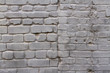 Grey brick wall as background, texture