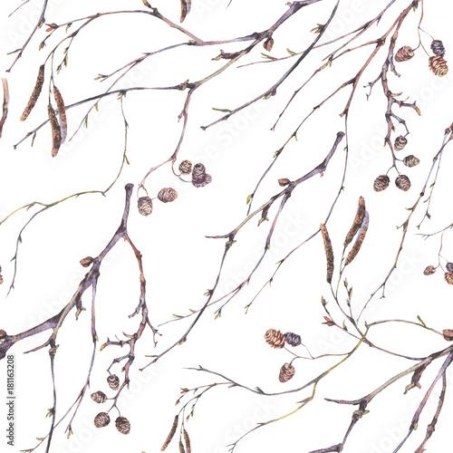 akwarela-wiosna-wzor-botaniczny-wzor