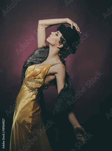 Photo  Look and retro style, pinup.