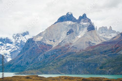 Photo Stands Night blue Torres del Paine National Park