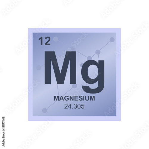 Vector symbol of magnesium from the periodic table of the elements vector symbol of magnesium from the periodic table of the elements on the background from connected urtaz Image collections