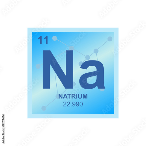Vector symbol of sodium from the periodic table of the elements on vector symbol of sodium from the periodic table of the elements on the background from connected urtaz Image collections