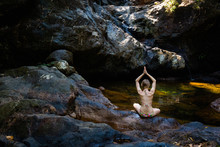 Yoga Session By Waterfall On K...